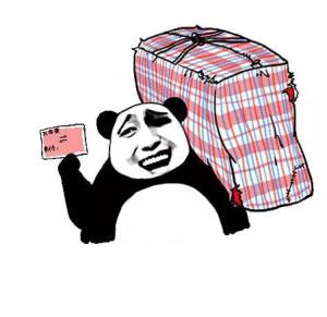 金麻袋熊猫头持票扛表情-动态在线制作表情卡通馆长包含情脉脉图片