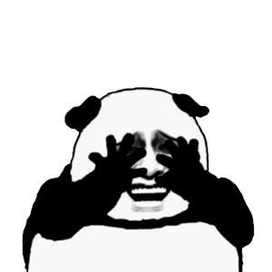 金馆长熊猫头捂眼睛 - 表情包在线制作图片