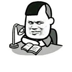 教皇花哥三七分趴桌看书 - 表情包在线制作图片
