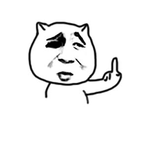 金馆长猥琐猫竖中指 - 表情包在线制作图片