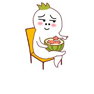 罗罗布哩哩小怪坐着跷二郎腿吃西瓜-表情在快亲表情包我让来一口图片