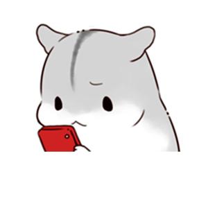 小仓鼠双手持表情看-表情在线制作微信念佛手机图图片