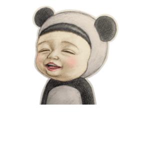 sadayuki宝宝高兴眯眼 - 表情包在线制作图片