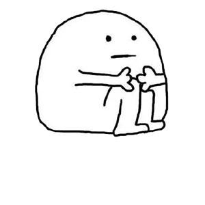 小人坐地双手抱腿-表情包原图-表情包模板