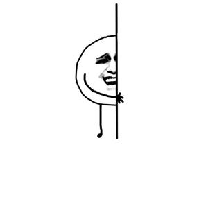 大头金馆长躲墙后-表情包原图-表情包模板