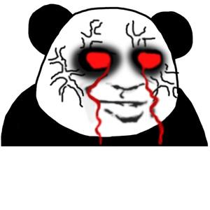 教皇熊猫头黑眼圈红眼流血 - 表情包在线制作图片