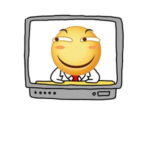 滑稽上电视-表情包原图-表情包模板