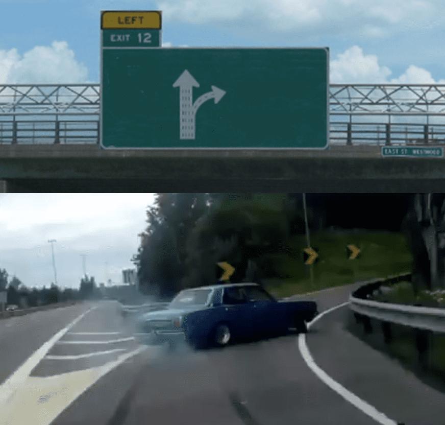 高速路口漂移走岔路表情制作_表情 DIY-表情包原图-表情包模板